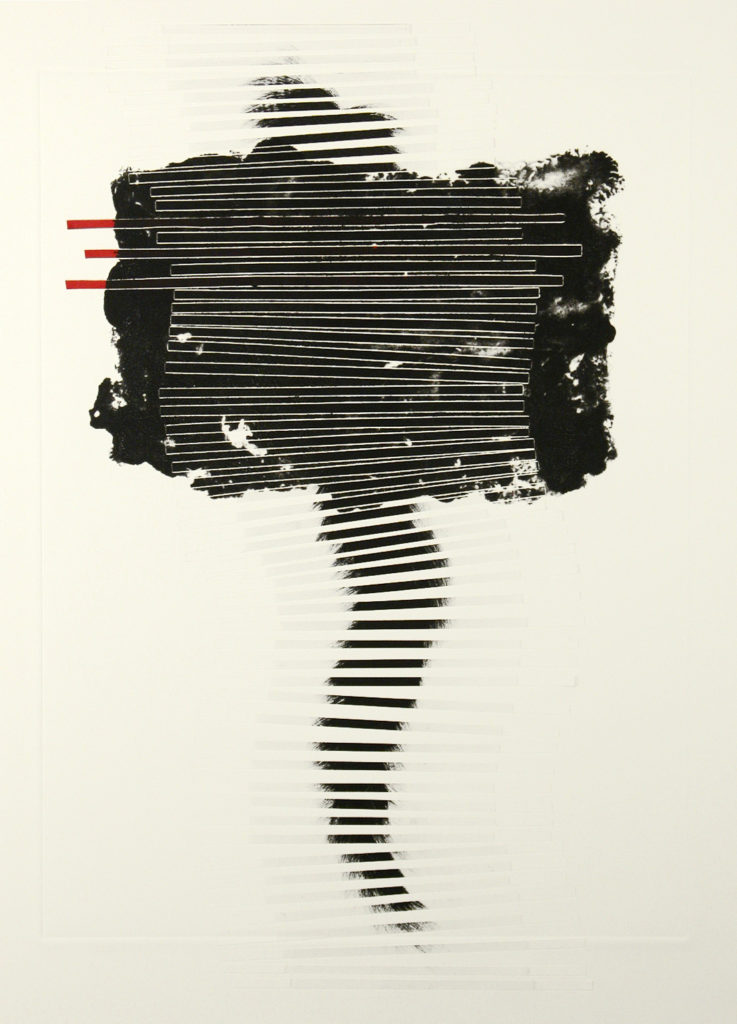 Christiane Corcelle - Boundless, carborundum collagraph, solar etching and collage on BFK paper