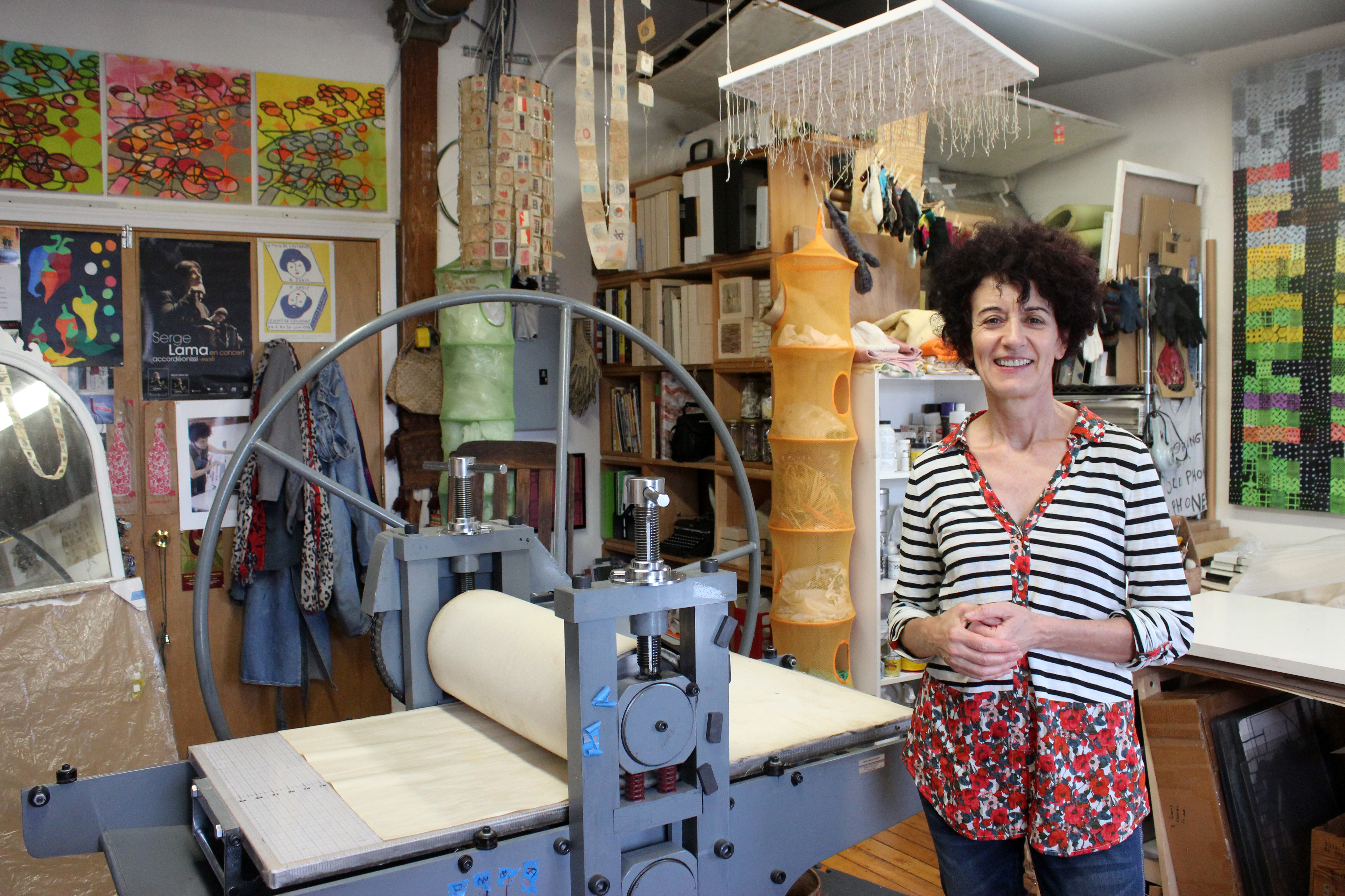 Artist, Christiane Corcelle and her American French Tool Press and