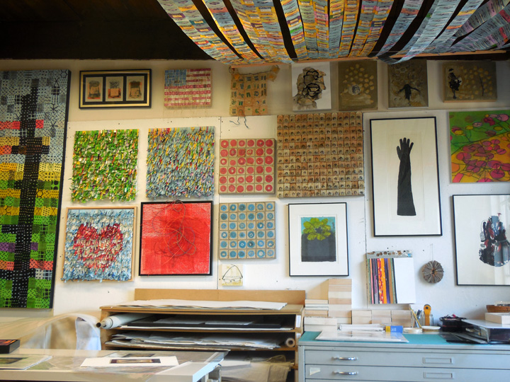 Christiane Corcelle's Studio