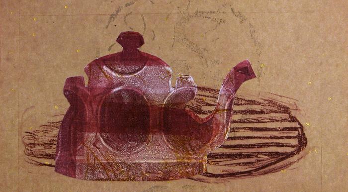 tea-pot 16, print, collage - 6.5